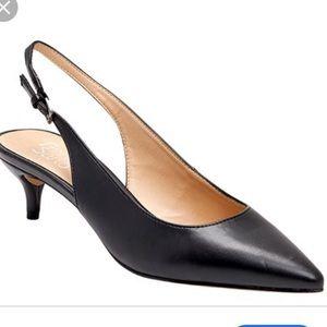 Franco Sarto Black Dionette Slingback Heels
